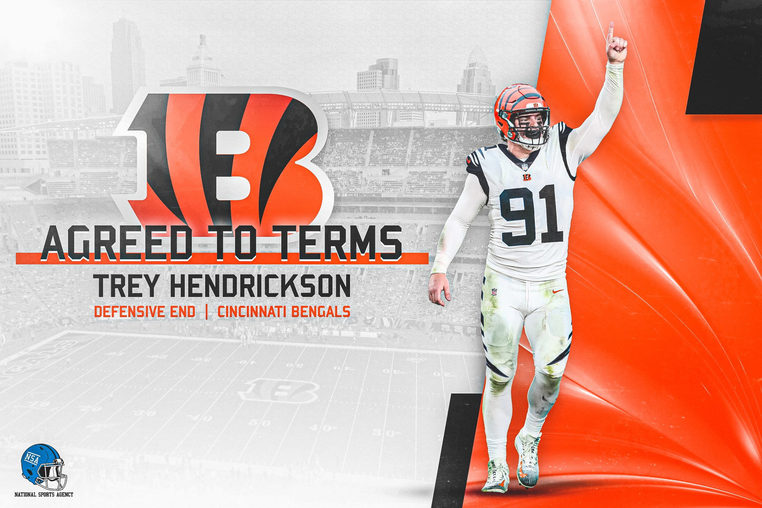 Trey Hendrickson Signs with Bengals for Four Years, $60 Million